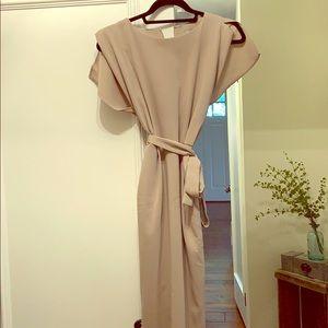 NWT ASOS stone colored midi dress, size 6